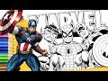 تلوين أبطال مارفل ( هالك الرجل الاخضر / الرجل-العنكبوت سبايدر مان / كابتن أمريكا ) | عالم التلوين