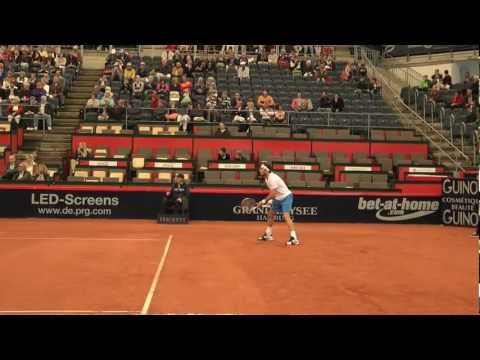 Juan Monaco Tennis on Clay Hamburg 2012 HD Slowmotion