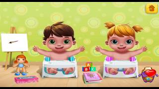 Baby Twins FUN KIDS GAME Terrible Two   TWINS LEARN PAINTS