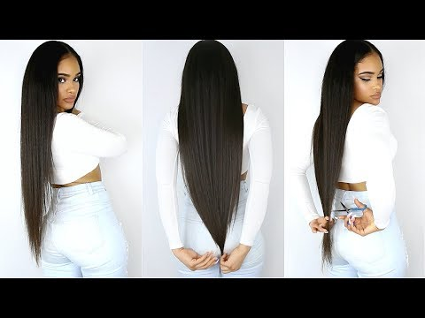 CUTTING MY OWN SUPER LONG HAIR!!! + Going Natural?