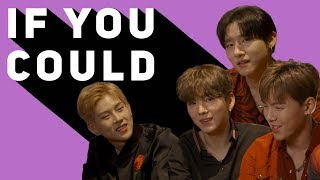 'I'd walk around naked!': Monsta X get real as they play 'If You Could?'