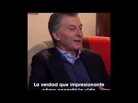 Mauricio Macri saludó a Olga Valderrama