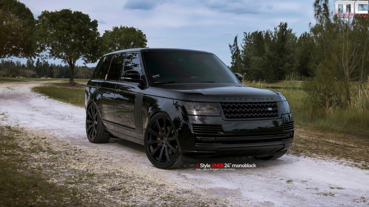 Range Rover Evoque Blacked Out >> MC Customs | Vellano Wheels Range Rover - YouTube