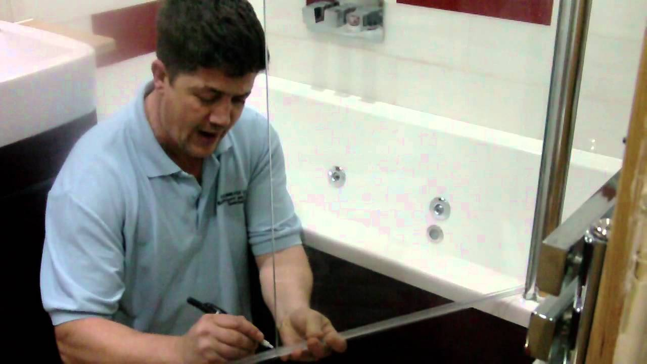 How To Replace An Old Bath Shower Screen Seal Youtube