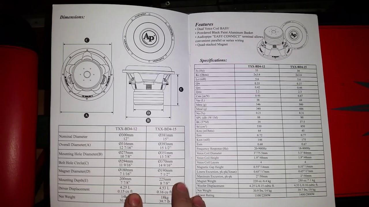 Audiopipe Txxbd415 Manual Youtube Wiring Diagram