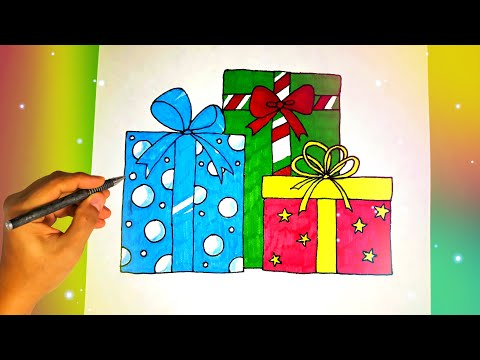 Как нарисовать ПОДАРКИ? Лёгкие рисунки для срисовки