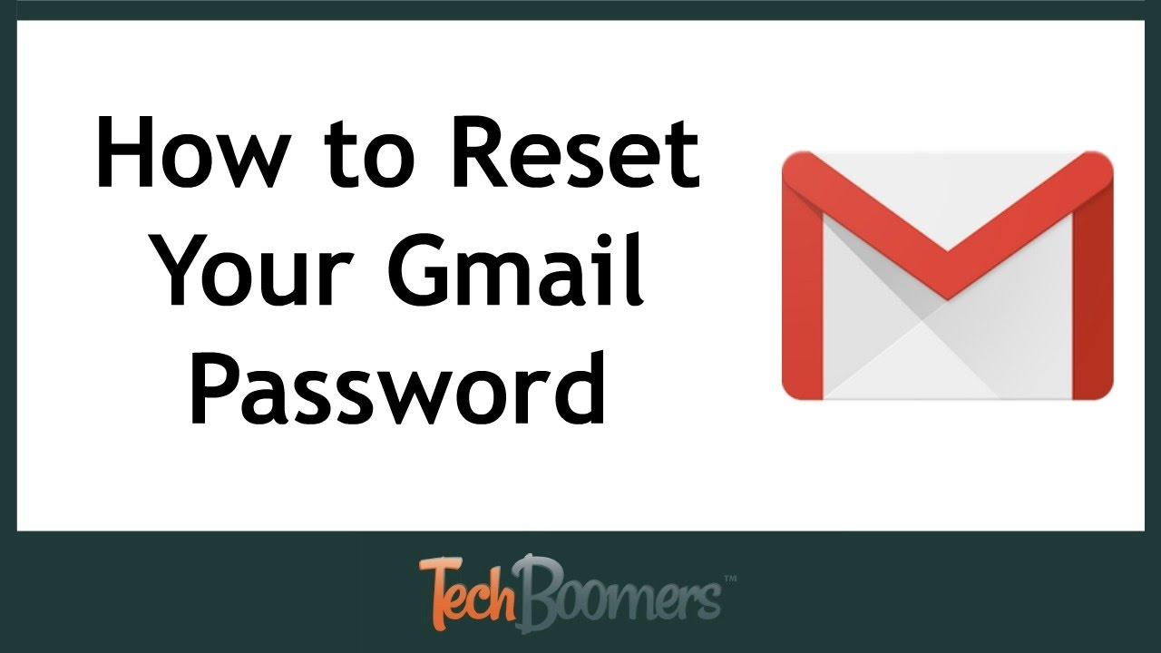 How can reset my gmail account password