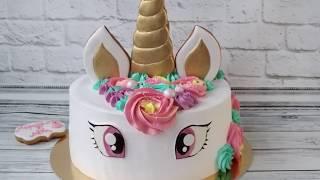 Торт Единорог для девочки Как украсить торт в виде единорога мастер класс Unicorn cake