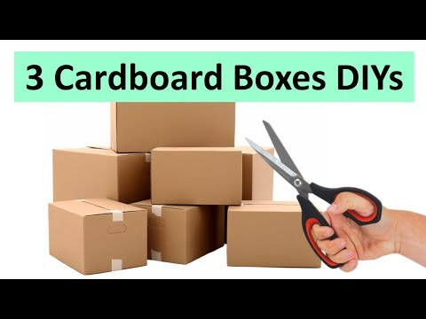 Reuse old cardboard boxes into these 3 useful ways   Learning Process