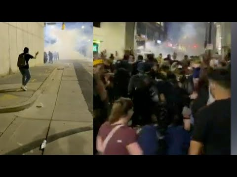 North Carolina Protesters Hit With Tear Gas