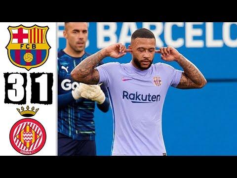 Download FC Barcelona vs Girona 3-1 Full Match highlights HD | Depay Debut 🔥🦁