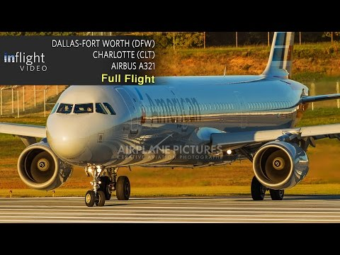 American Airlines Full Flight | Dallas Ft Worth to Charlotte | Airbus A321 (with ATC)