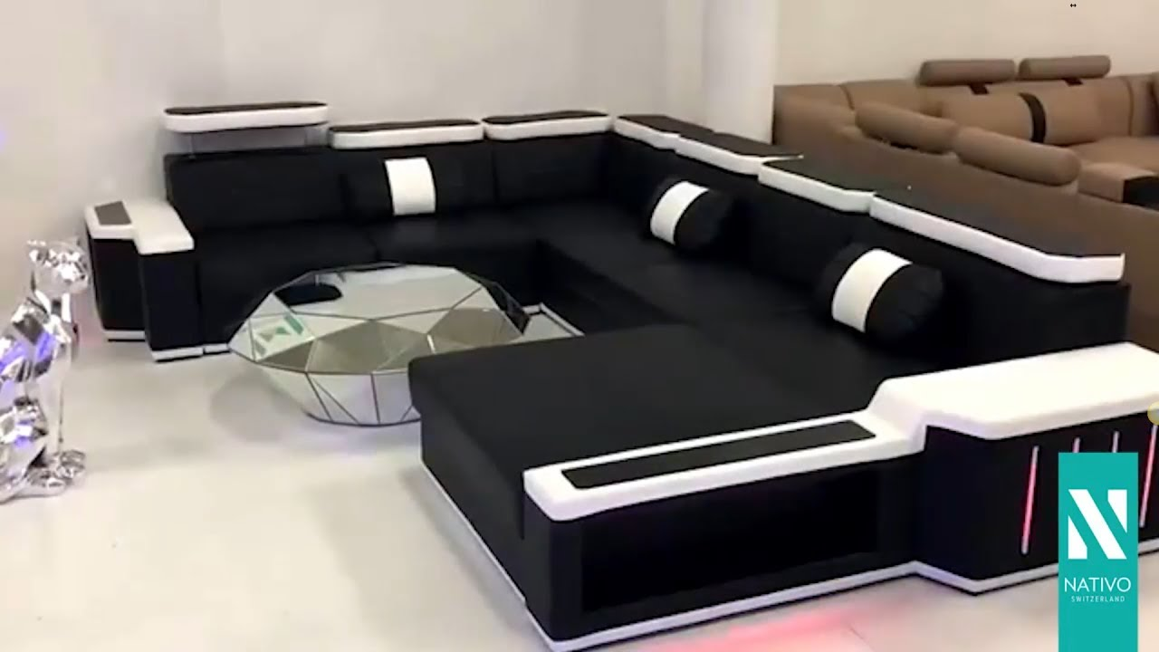 Nativo Möbel österreich Designer Sofa Cesaro Xxl Mit Led