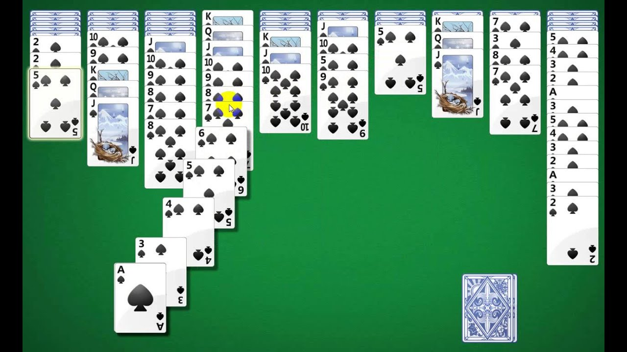 Want to play spider solitaire