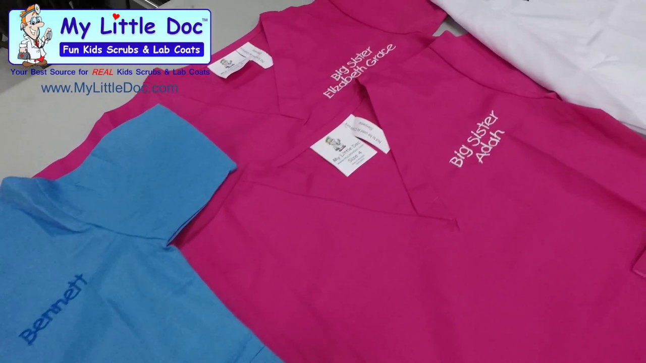 85390f0fe01 Personalized Kids Scrubs and Lab Coats by My Little Doc - YouTube