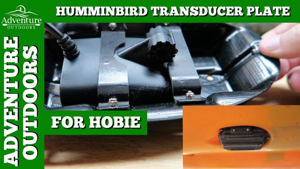 humminbird fishfinder transducer plate mod for hobie kayaks from, Fish Finder