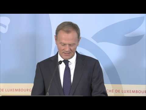 EU Council president Tusk on Greece, 9/7/2015
