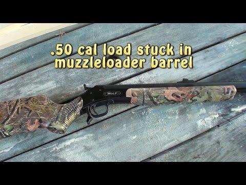 CVA muzzleloader load stuck in barrel