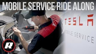 Ride along with Tesla Mobile Service and fix some electric cars