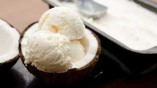TENDER COCONUT ICE CREAM RECIPE l WITHOUT EGG & WITHOUT ICE CREAM MAKER