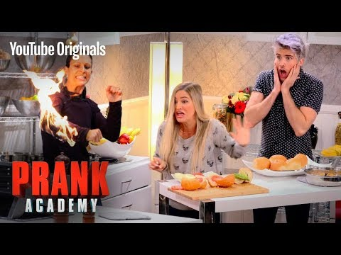 GIRL CAUGHT ON FIRE PRANK!!!  Prank Academy  Episode 1