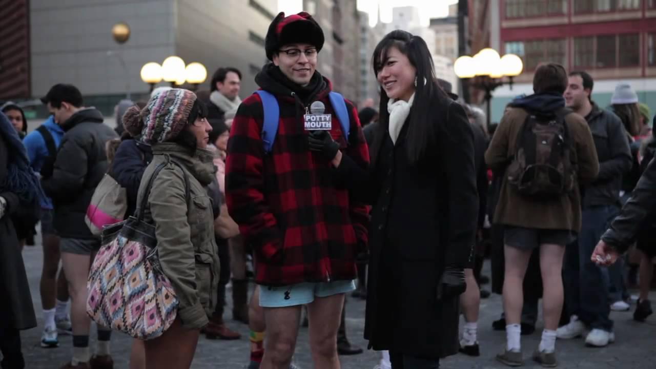 POTTYMOUTH @ Improv Everywhere's 2011 NYC No Pants Subway Ride