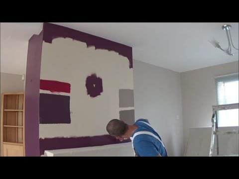 Painting a feature wall