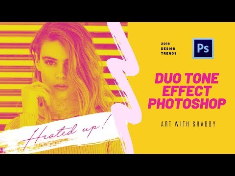 Duotone Photo Effect Photoshop Tutorial | Design Trends 2019 thumbnail