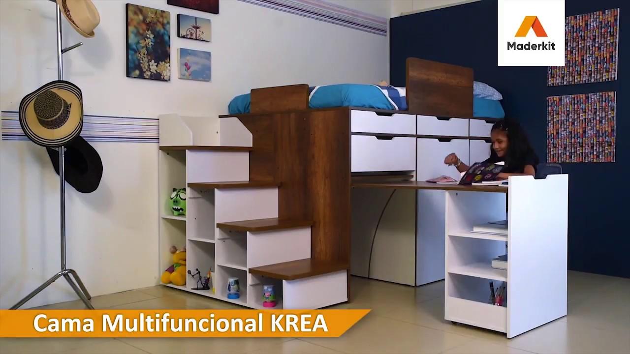 Maderkit Mueble Multifuncional Krea Cama Closet
