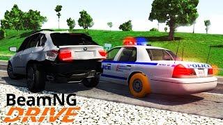 Полицейская Погоня на Сумасшедшей Скорости за BMW X5M - BeamNG.drive