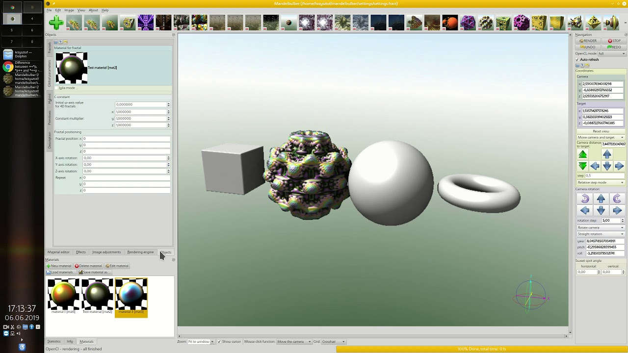 Mandelbulber tutorial part 4 - creating and assigning materials