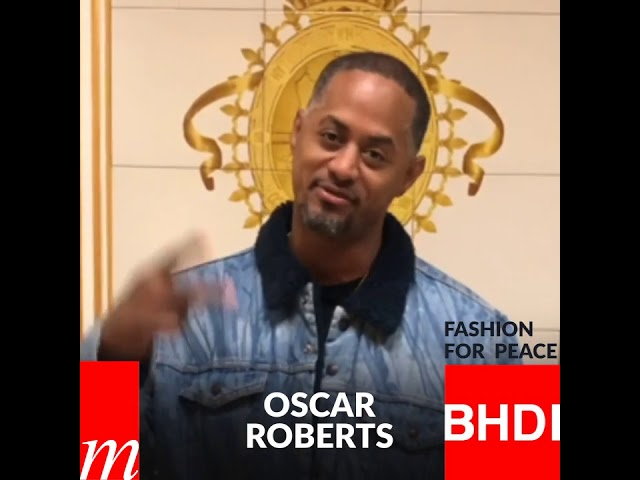 Watch Oscar Roberts's message on Fashion for Peace