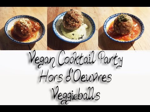 VEGAN VEGGIE BALLS  MEATBALLS Hors d'Oeuvres | Connie's RAWsome kitchen | COME COOK WITH ME