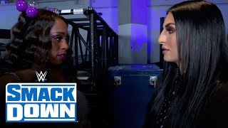 Naomi backs WWE Official Sonya Deville into a wall: SmackDown, Sept. 17, 2021