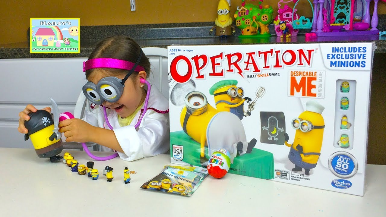 Minion Toys And Games : Despicable me operation game and minions surprise toys