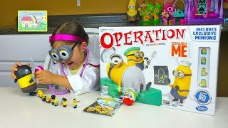 Despicable Me Operation Game and Minions Surprise Toys Prizes! Kids Games