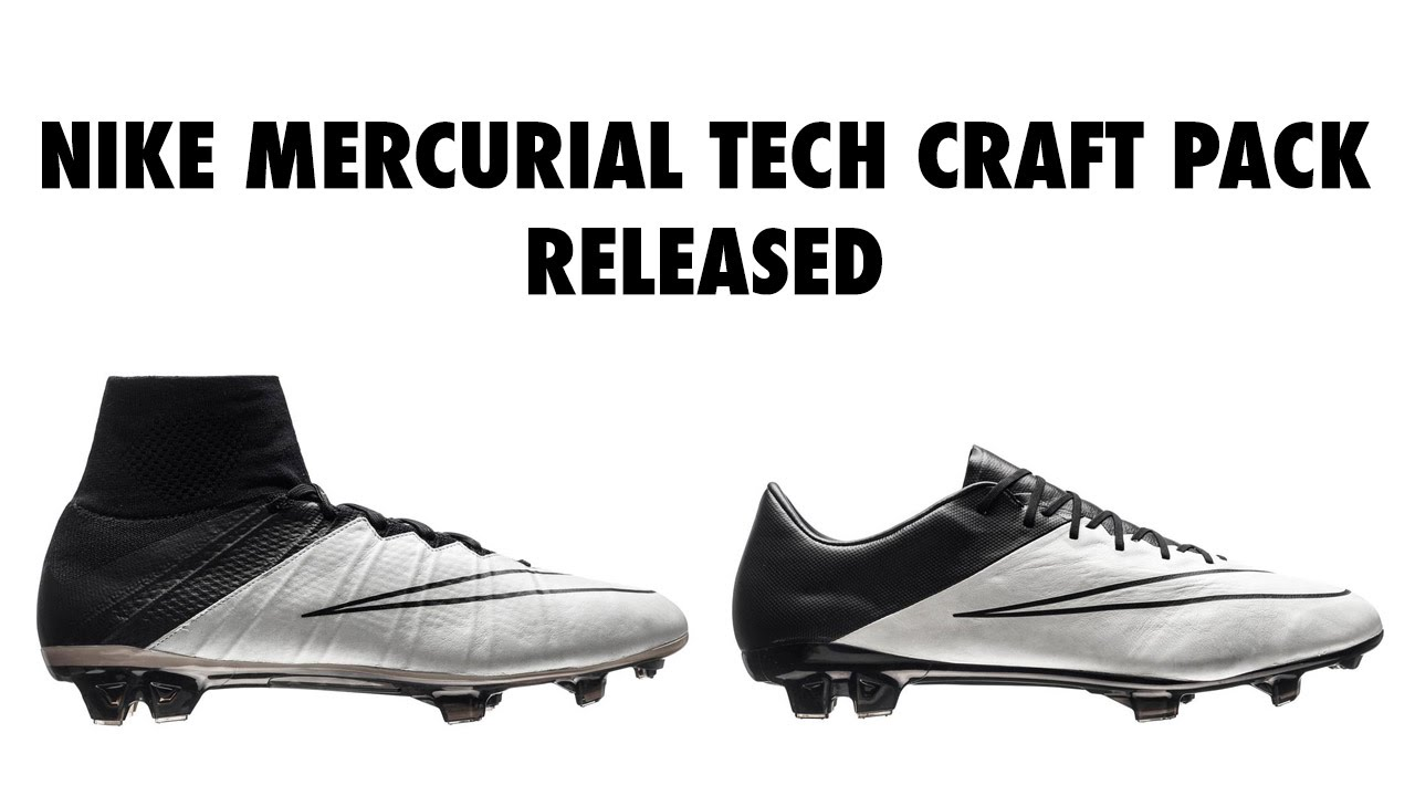 Nike Mercurial Tech Craft Pack 2016 Boots Released, Closer Look