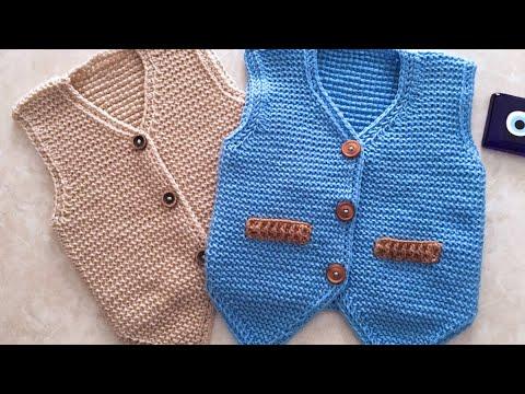 Tunusişi Efe yeleği nasıl yapılır/easy Baby crochet vest/cardigan