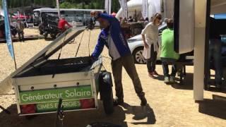 remorque solaire   Salon Val d'Isère 2016   Cimes Energies