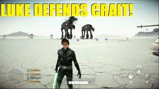 Star Wars Battlefront 2 - Luke Skywalker Defends Crait! My version of The Last Jedi! (Luke KS)