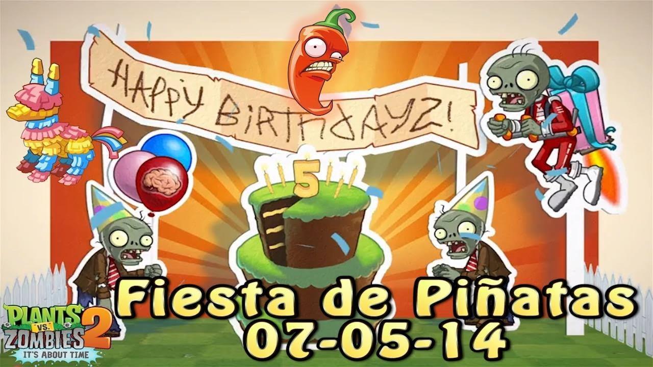 Plants Vs Zombies 2 Fiesta De Pi 241 Atas 07 05 14 5