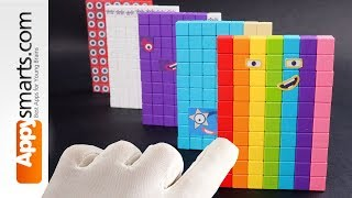 Making the Rainbow Magnetic Numberblock (Number 70) - crafts project (satisfying ASMR)