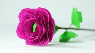 How to Make Handmade Crepe Paper Flowers -  Easy Step by Step DIY Tutorial