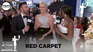 Charlize Theron: Red Carpet Interview | 26th Annual SAG Awards | TNT