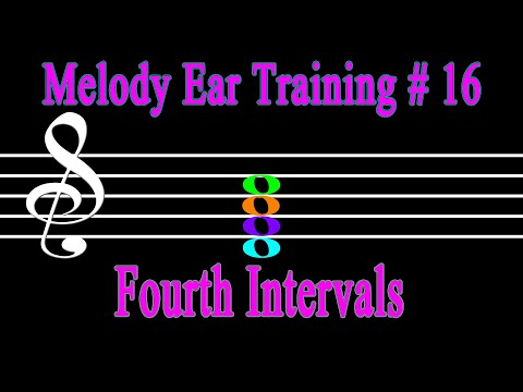 Ear Training 4th in Major Scale with Sight Reading Practice | 2 in 1 Time saving Music Lesson #16