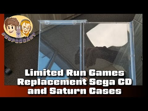 Limited Run Games Replacement Sega CD & Saturn Cases - #CUPodcast