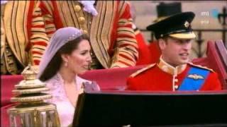 Prince William & Kate Middleton esküvő utáni vonulása - Királyi esküvő
