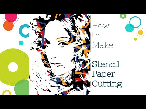 How to make your own stencil - paper cutting