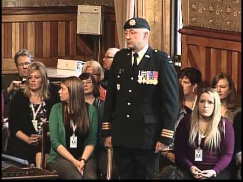 Lieutenant Colonel Alex Ruff Introduced to NB Legislature by MLA Brian Macdonald