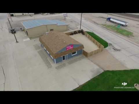 Drone Flight Over Village Fitness in Cairo Nebraska